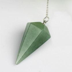 Маятник конус из зеленого авантюрина