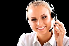 Close-up portrait of a customer service