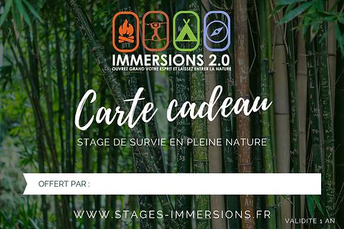 Carte Cadeau Stage INITIATION 2 JOURS / 1 NUIT