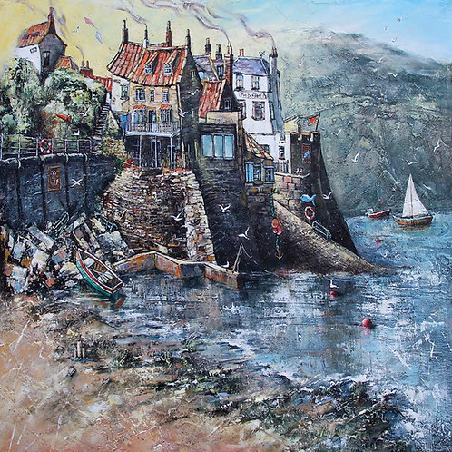 THE INCOMING TIDE, ROBIN HOODS BAY