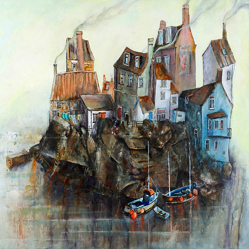 MOORED COBBLES AT STAITHES