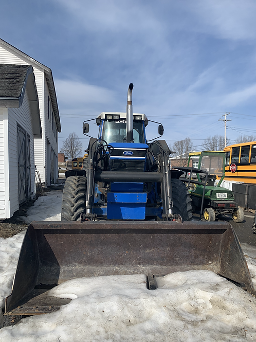 Ford 8830 Tractor with Bucket and Blower