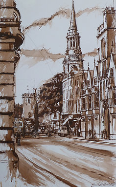 OXFORD'S HIGH STREET - A FINE ART PRINT
