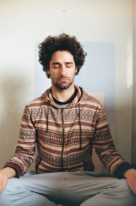 Meditating Selfportrait 1