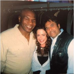 Claudia with Mike Tyson and Eric Estrada at Armani Wells