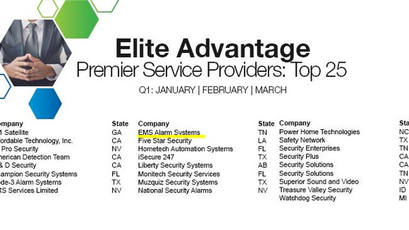 EMS earns Top 25 Premier Service Provider First Quarter Award