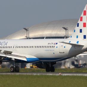 Zrakoplovi Croatia Airlinesa aktivni na charter letovima diljem Europe