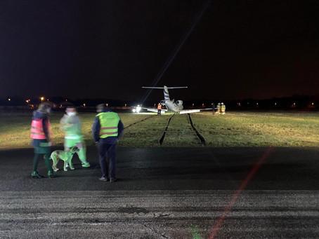 Jung Sky Cessna overruns runway at Antwerp Airport