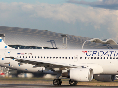 Croatia Airlines timetable for January 2021.