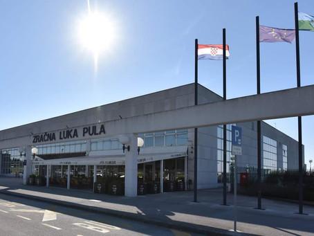U Zračnoj luci Pula u kolovozu više od 92 tisuće putnika