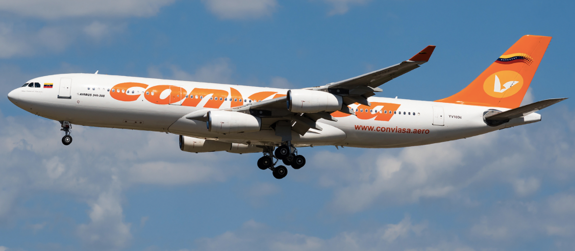 Conviasa Landed At Dubrovnik Airport With A340 Aircraft