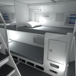 Gdje posada spava na dugim letovima?