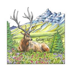 Elegant Elk Illustration