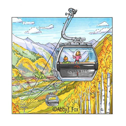 Gliding Gondola Print
