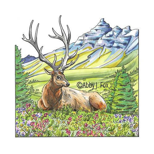 Elegant Elk Print