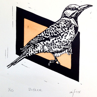 Woodpecker Commission Print