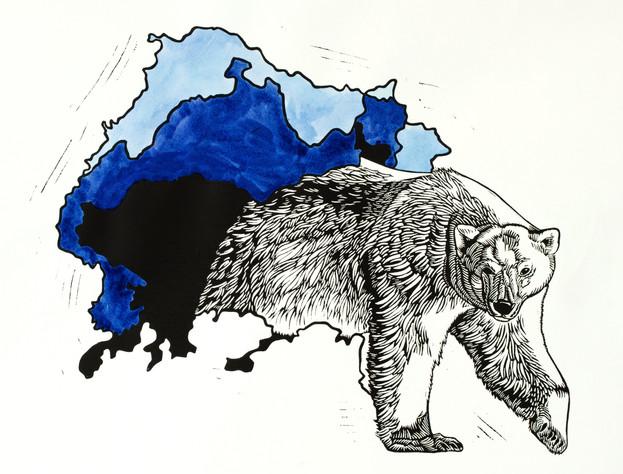 Arctic Ice Melt Relief Print