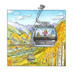 Gliding Gondola Illustration