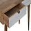Thumbnail: Solid Wood White Painted Carved Console Table with Drawers