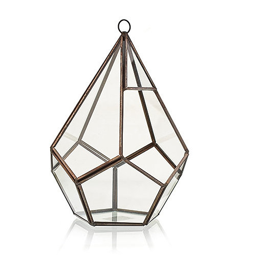 Glass Terrarium - Large Pentagon