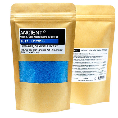 Aromatherapy Bath Potion in Kraft Bag 350g - Total Unwind