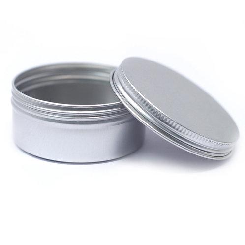 Aluminium Tin Box Round with Screw Top - 70x35mm