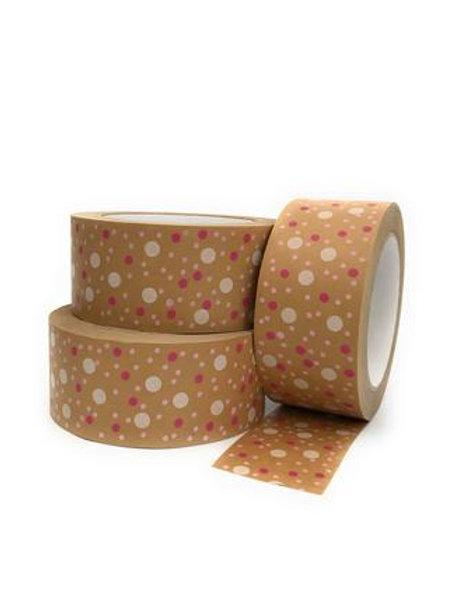 Polka Dots Print Self Adhesive Kraft Paper Tape