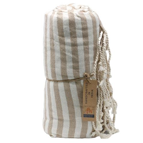 Cotton Pario Towel - 100x180 cm - Warm Sand