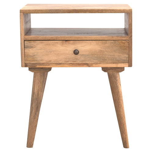 Solid Wood Bedside Table with Scandinavian Styled Legs