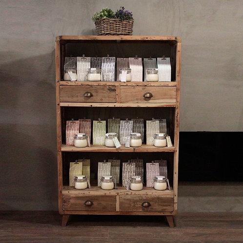 Shelf Display - Recycled Wood - 100x40x160cm