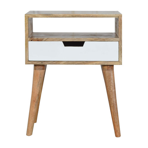 Hand Painted Handcrafted Contemporary Solid Wood Bedside Table
