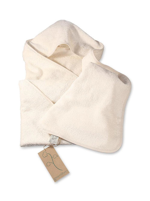 Organic Cotton Baby Towel with Hood (GOTS cert.)