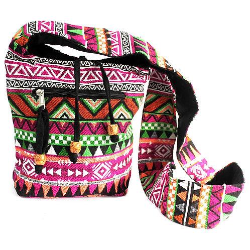 Jacquard Bag - Pink Sling Bag