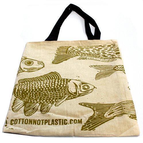 Lrg 2 x 4oz Reversable Cotton Bag 38x42cm - (2 designs)