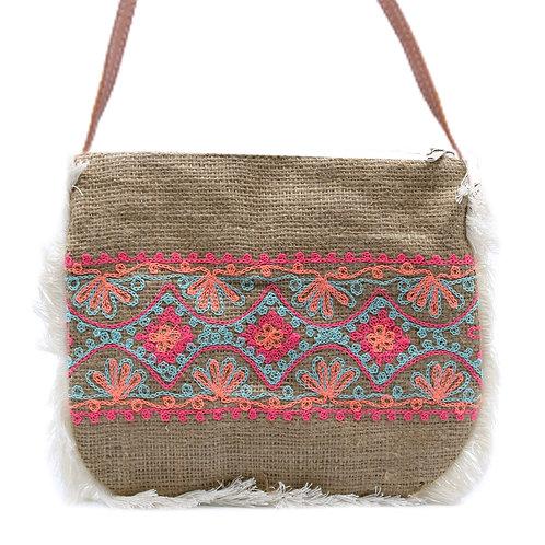 Fab Fringe Bag - Summer Pattern Embroidery
