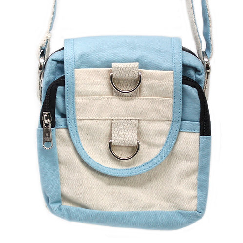 Natural Travel Bag - Teal