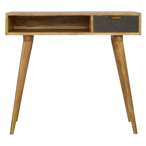 Handcrafted Nordic Style Desk with Open Slot Storage