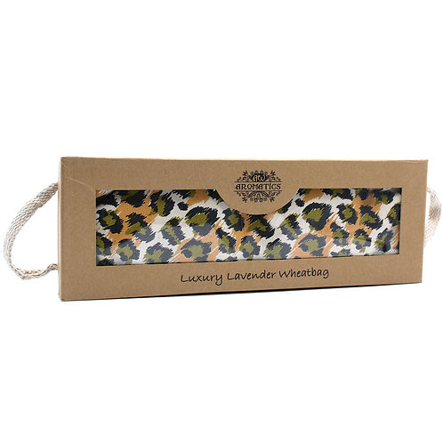 Luxury Lavender Wheat Bag in Gift Box - Night Leopard