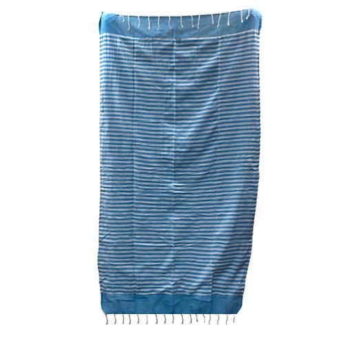 Cotton Pareo Throw - 100x180 cm - Sky Blue