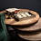 Thumbnail: Set of Three Industrial Nesting Tables   Round End Tables   Rustic Side Tables