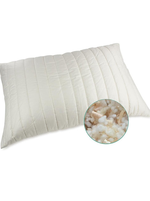 Organic Wool Pillow with Swiss Pine Shavings