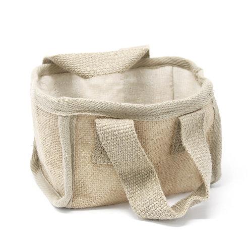 Mini Shopping Basket - 16x10x12cm - Nat