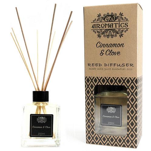 200ml Cinnamon & Clove Essential Oil Reed Diffuser