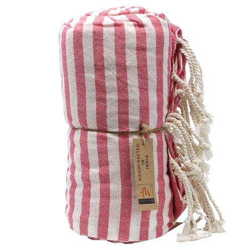 Cotton Pareo Towel - 100x180 cm - Hot Pink