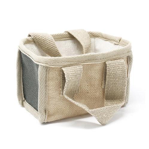 Mini Shopping Basket - 16x10x12cm - Charcoal
