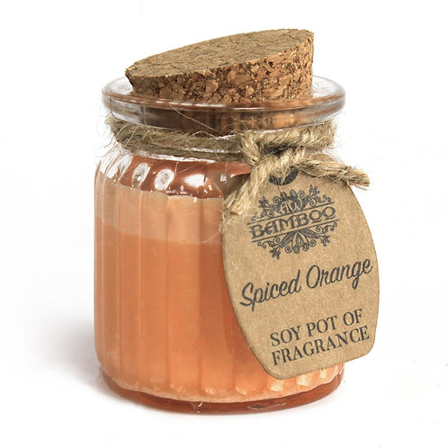Spiced Orange Soy Pot of Fragrance Candles (x 2)