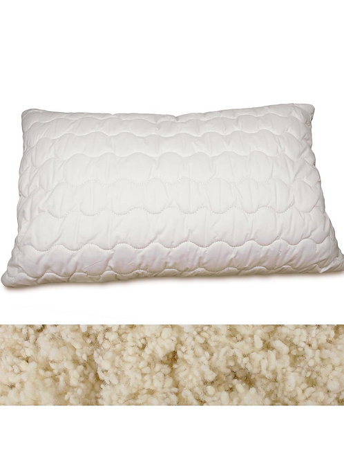 Quilted Organic Wool Pillow