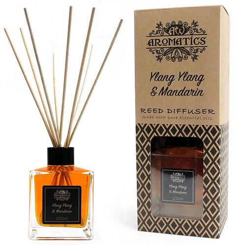 200ml Ylang Ylang & Mandarin Essential Oil Reed Diffuser