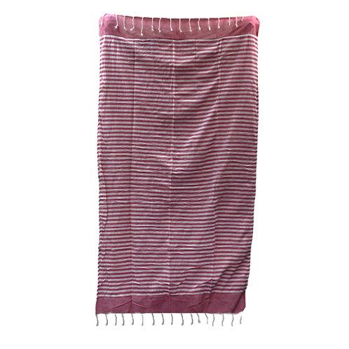 Cotton Pario Throw - 100x180 cm - Hot Pink