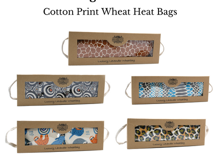 April Product Spotlight - Luxury Lavender Wheat Bag in Variety of Gorgeous New Prints with Gift Box
